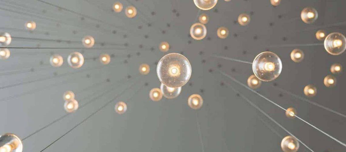 Drop lights from below